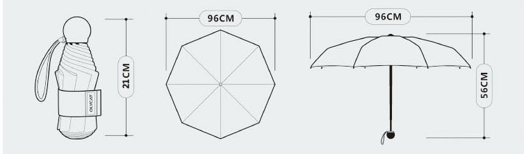 Ô dù siêu nhẹ OLYCAT che nắng chống nắng cực tím UPF50 + (mẫu 5)