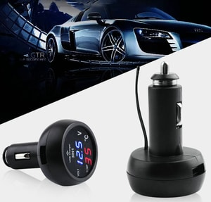 Tẩu đo nhiệt độ đo điện áp ô tô