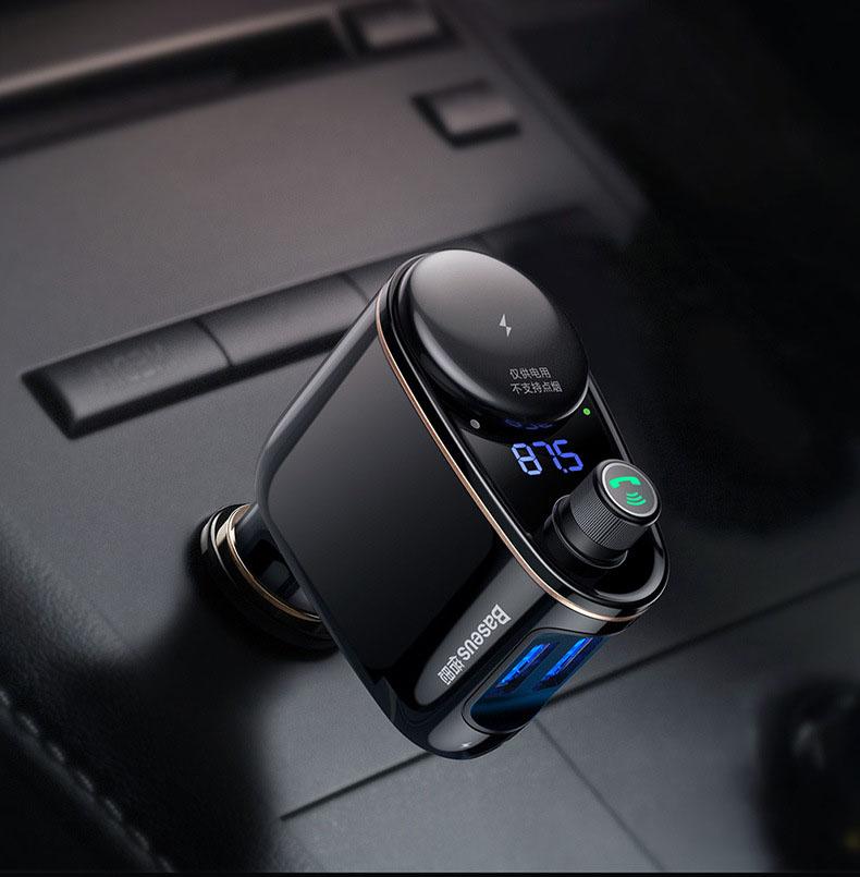 Tẩu nghe nhạc bluetooth Mp3 cho ô tô chính hãng Baseus