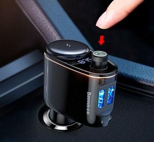Tẩu nghe nhạc bluetooth Mp3 cho ô tô chính hãng Baseus (mẫu 5)