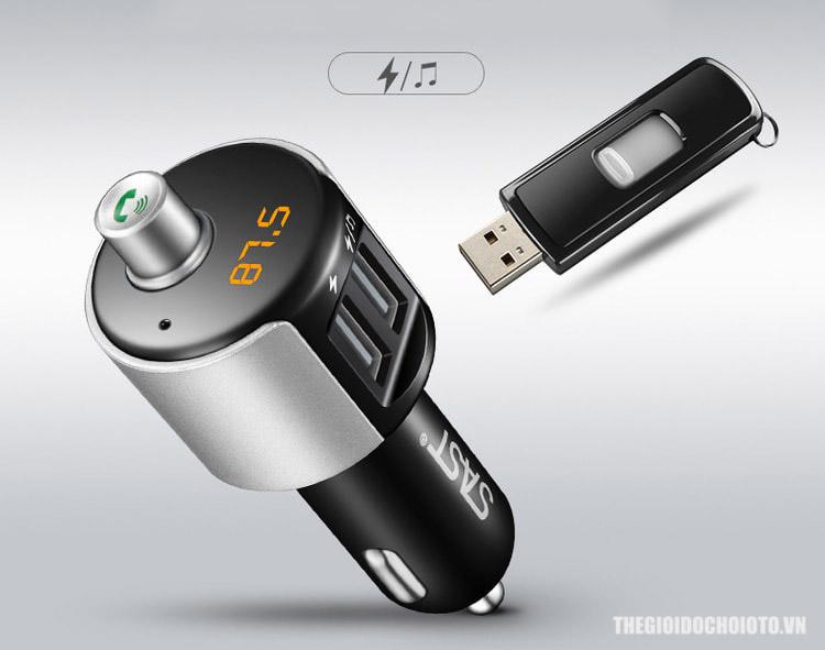 Tẩu Nghe Nhạc Mp3 Bluetooth Cho Ô Tô (mẫu 2)