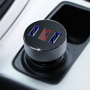 Tẩu Sạc điện thoại trên ô tô Hyundai chia điện ra 2 cổng usb loại tròn