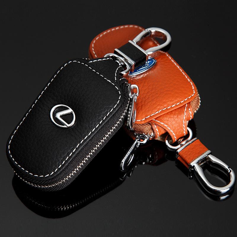 Bao da chìa khóa ô tô có khóa kéo toyota, honda,lexus, mercedes (mẫu 3)