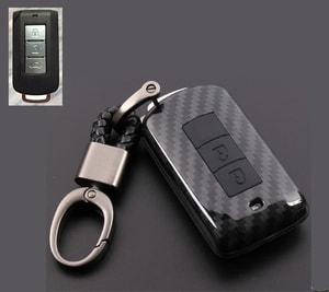 Ốp carbon chìa khóa xe Mitsubishi Xpander, Outlander, Attrage, Mirage