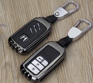 Ốp chìa khóa ô tô Honda kim loại cho Honda CRV, Honda City