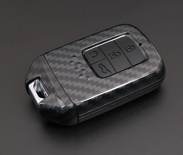Ốp chìa khóa ô tô carbon cho xe honda crv, honda city