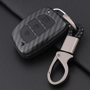 Ốp chìa khóa carbon cho xe Hyundai ( mẫu 1 )