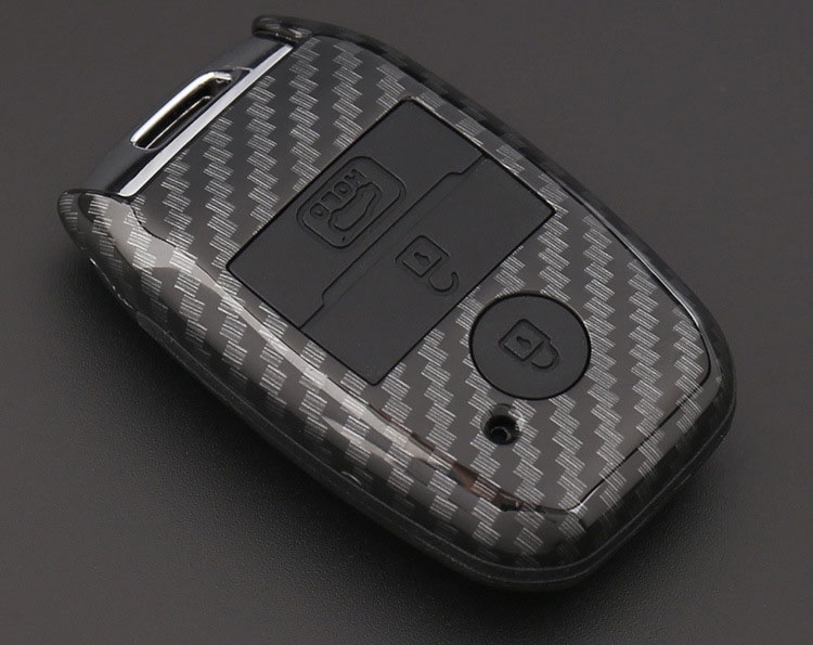 Ốp chìa khóa carbon cho xe Kia ( mẫu 1 )