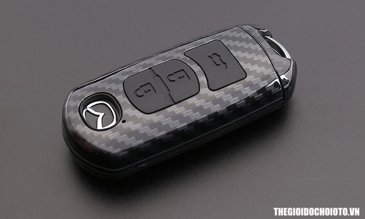 Ốp chìa khóa ô tô mazda carbon cho xe mazda cx5, mazda 2, mazda 3, mazda 5