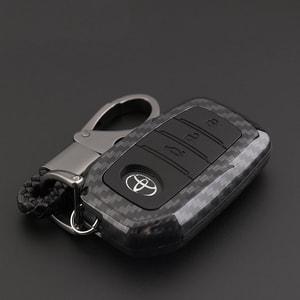 Ốp chìa khóa carbon cho xe Toyota ( mẫu 1 )