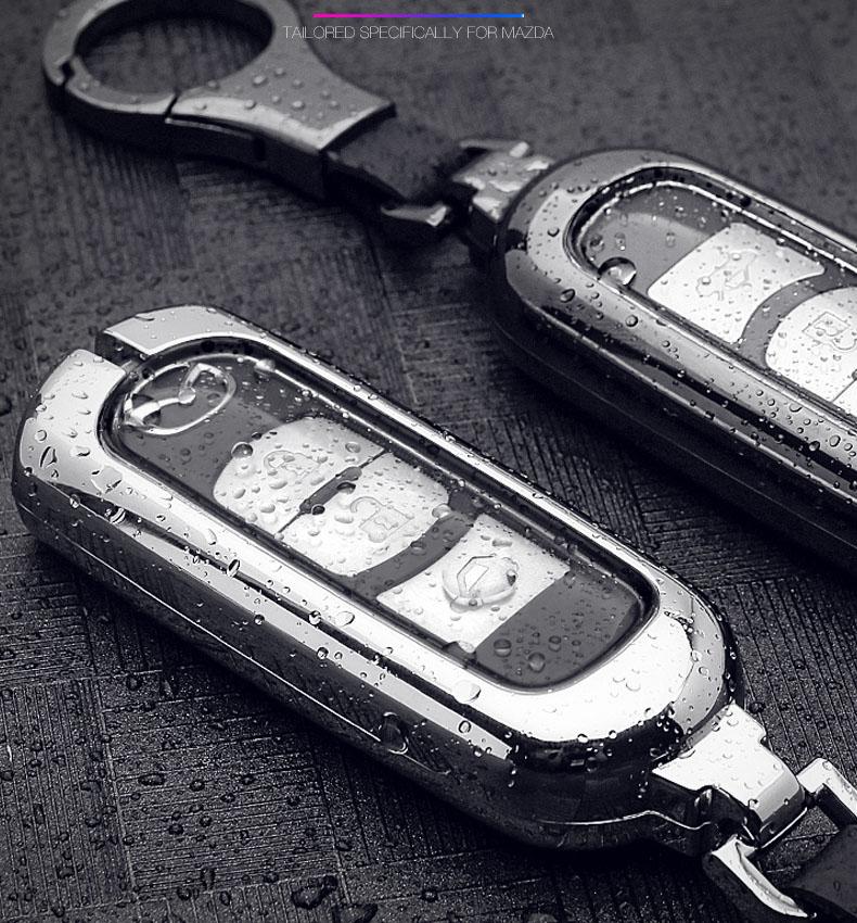 Ốp bọc chìa khóa kim loại kèm TPU cho  ô tô Mazda CX5, Mazda 3, Mazda 6