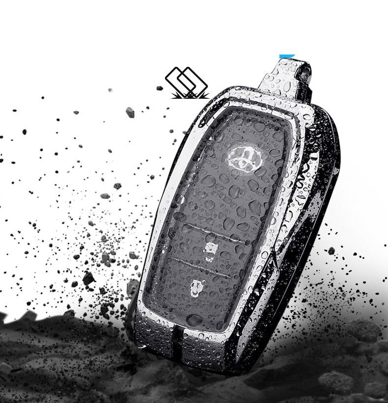 Ốp bọc chìa khóa kim loại kèm TPU cho  ô tô Toyota