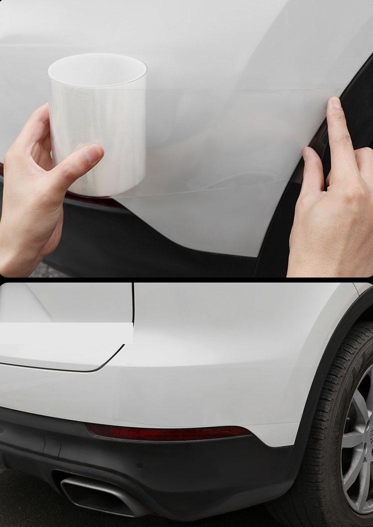 Băng dán trong suốt dán chống va chạm, chống xước bậc cửa, cánh cửa, thân xe