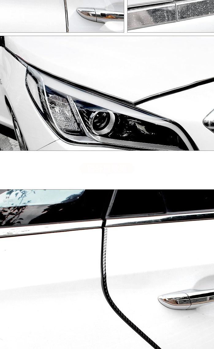 Nẹp viền chữ u dán viền cửa xe ô tô tránh va đập và trang trí ô tô
