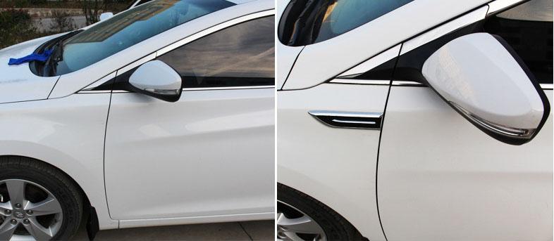 Bộ 2 mang cá dán giả hốc gió dán trang trí 2 bên sườn xe ô tô