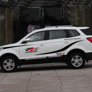 Bộ tem dán trang trí sườn xe ô tô f1 zace factory ms-237