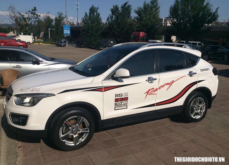 Bộ tem dán sườn xe ô tô RS-R racing sport
