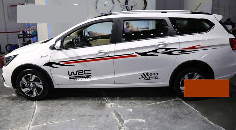 Bộ tem dán sườn xe ô tô WRC sport