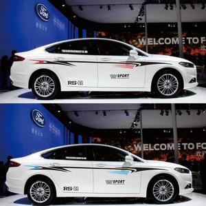 Bộ tem decal RS-R SPORT dán sườn xe ô tô ms-06