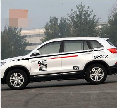 Bộ tem decal WRC 911 dán sườn xe ô tô Suv, xe 7 chỗ