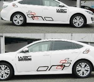 Bộ tem decal WRC ô vuông dán sườn xe ô tô ( mẫu 5) MS-101