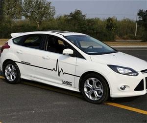 Bộ tem WRC sport sóng điện dán trang trí ô tô ms-209