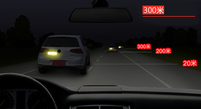 Miếng chống va đập carbon cao cấp có viền phản quang dán lông mày xe ô tô