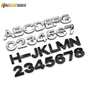 Tem chữ kim loại, số kim loại cao cấp cỡ nhỏ cao 1.6 cm dán xe ô tô ms-259