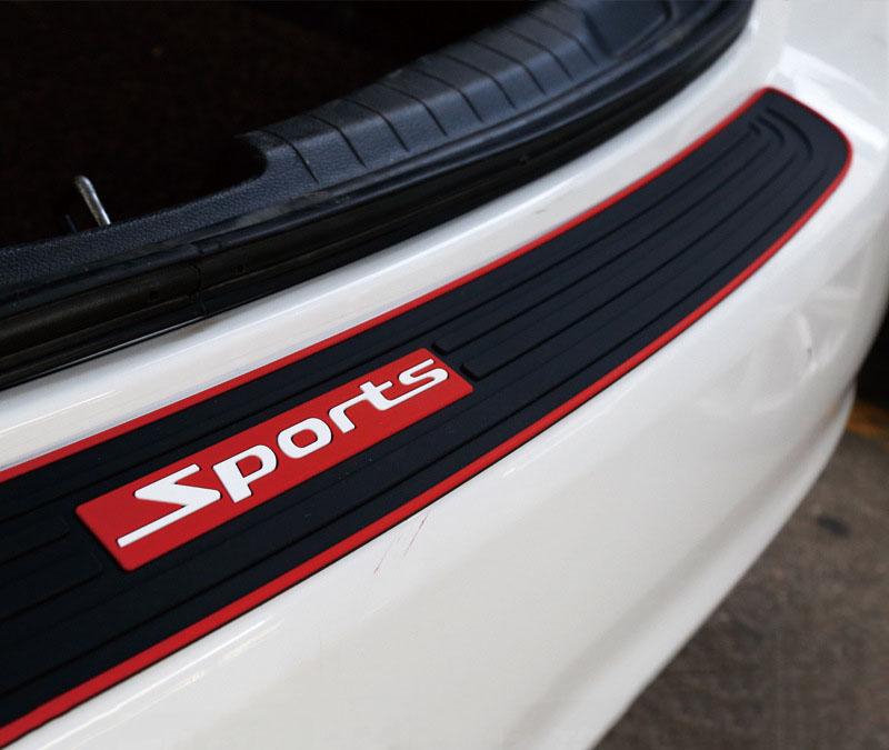 Dải cao su Sport dán trang trí  bảo vệ chống trầy cốp sau ô tô