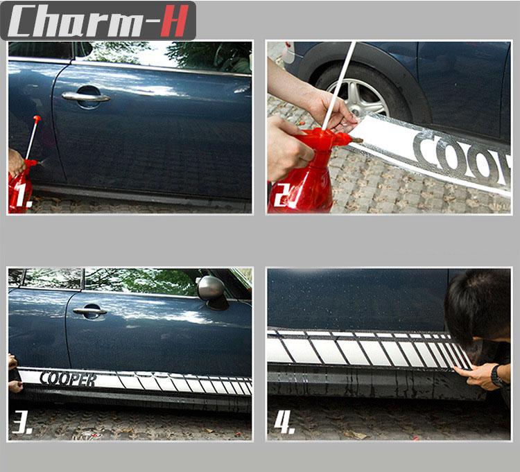 Dải decal dán 2 bên sườn xe trang trí ô tô ( ms-363)