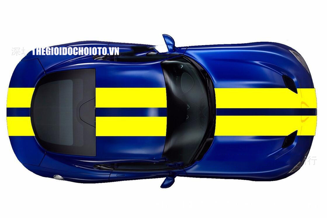 Dải tem dán nóc xe tô tô phong cách thể thao xe đua (mẫu 2)