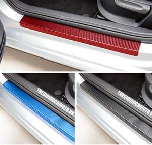 Bộ 4 dải carbon dán bậc cửa ô tô, trang trí chống xước cho xe MS-61