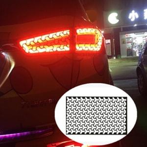 Decal dán trang trí đèn hậu ô tô dạng tổ ong ( mẫu 2 )  ms-383