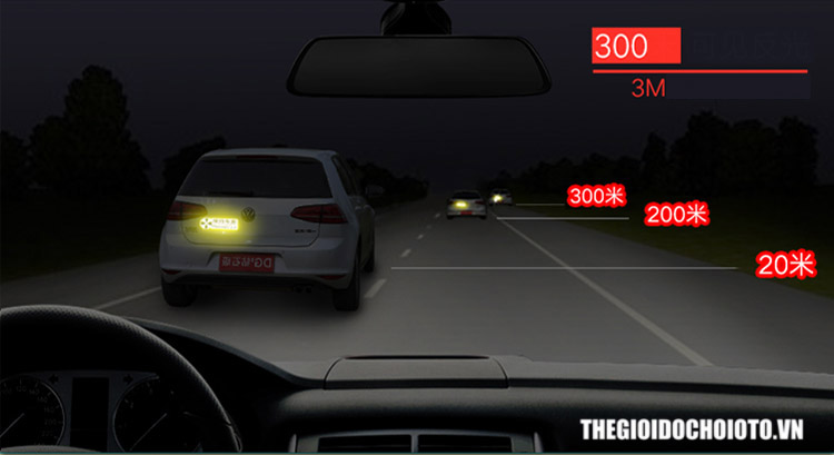 Decal phản quang dán cánh cửa ô tô