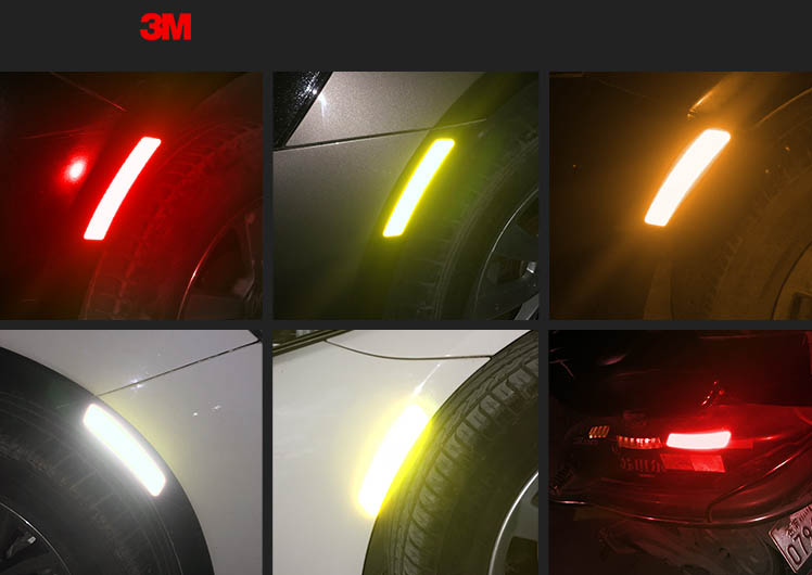 Decal phản quang ô tô 3M dán lông mày bánh xe ô tô