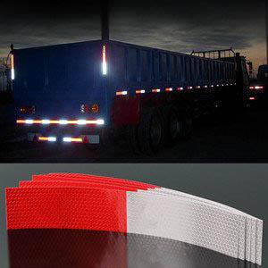Decal phản quang trắng đỏ cảnh báo dùng cho xe tải MS-55