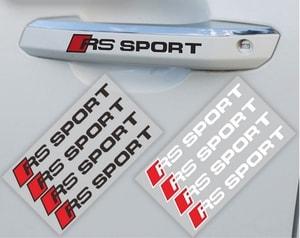 Decal Tem RS-Sport dán tay cửa xe ô tô, trang trí ô tô (ms-217)
