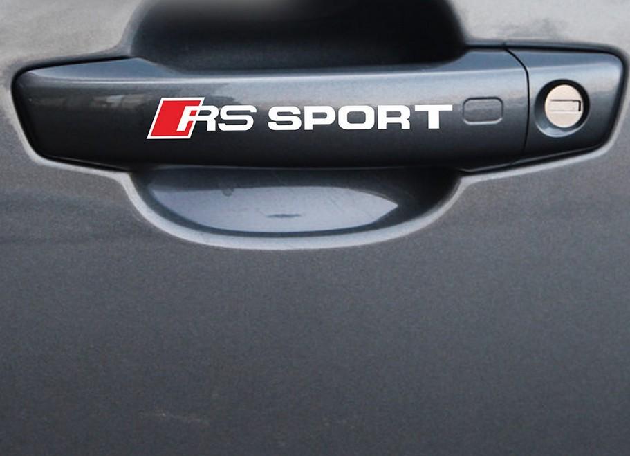 Decal Tem RS-Sport dán tay cửa xe ô tô, trang trí ô tô