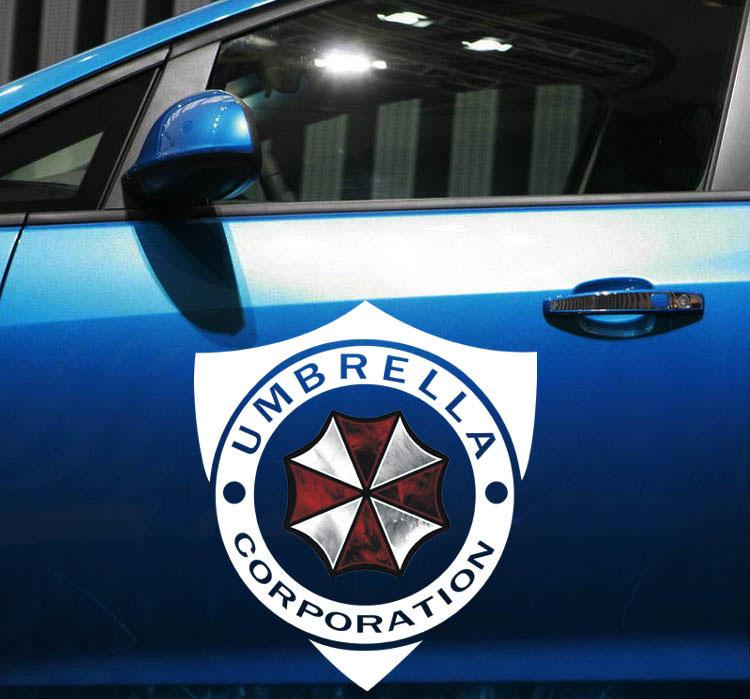 Tem hình ô Umbrella Corpration dán trang trí ô tô