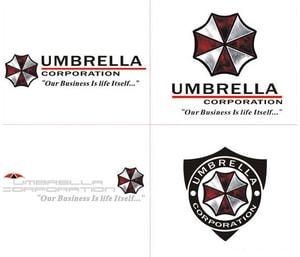 Tem hình ô Umbrella Corpration dán trang trí ô tô ms-235