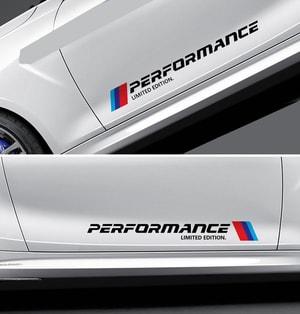 Dải tem chữ Performance trang trí 2 sườn xe ô tô ms-281