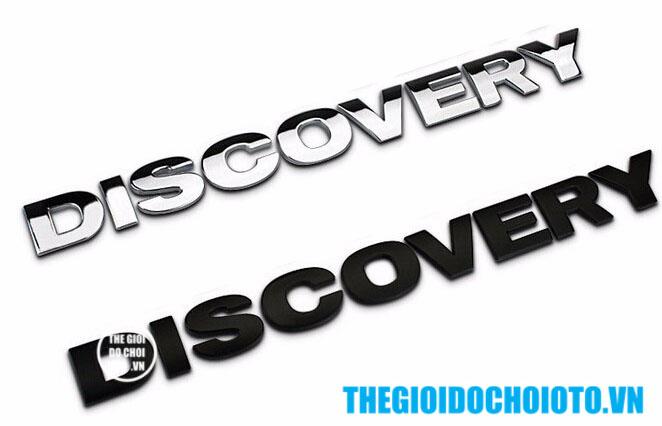 Decal Tem Chữ Discovery 3D Kim Loại Dán Trang Trí Ô Tô