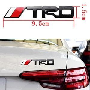 Decal tem chữ nổi kim loại TRD dán trang trí ô tô MS-138