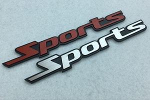 Decal Tem Chữ Sport 3D Kim Loại Dán Xe Ô Tô (Mẫu 3) MS-32
