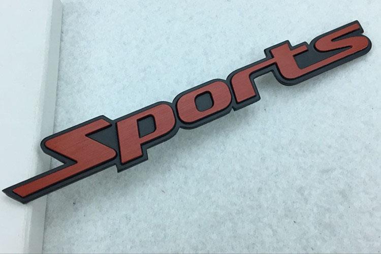 Decal Tem Chữ  Sport 3D Kim Loại Dán Xe Ô Tô Mẫu 3