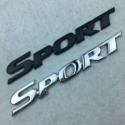 Decal Tem Chữ  Sport 3D Kim Loại Dán Xe Ô Tô (Mẫu 4)