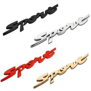 Decal Tem Chữ Sport 3D Kim Loại Dán Xe Ô Tô (Mẫu 5) MS-34