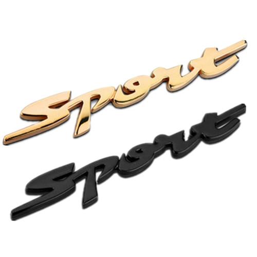 Decal Tem Chữ  Sport 3D Kim Loại Dán Xe Ô Tô (Mẫu 5)