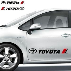 Dải tem Toyota dán trang trí 2 sườn xe ô tô ms-280