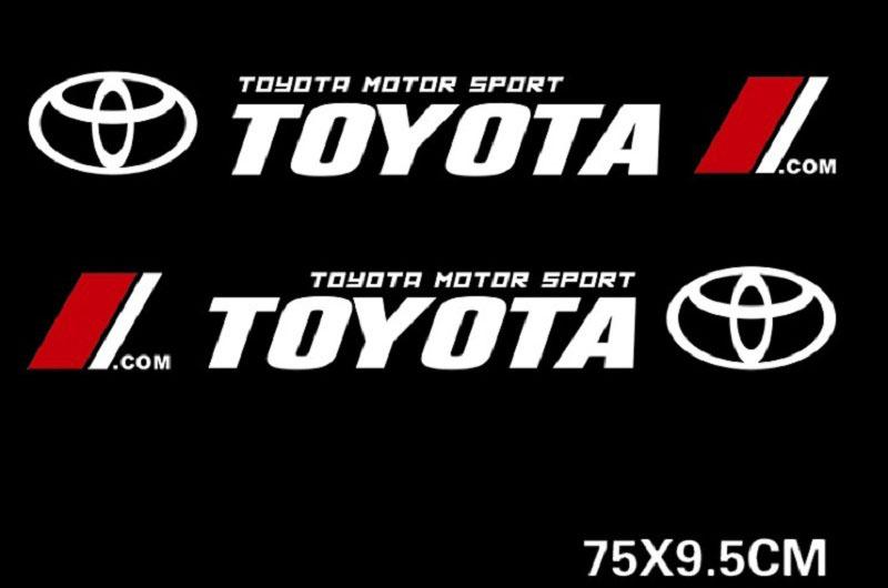 Dải tem Toyota  dán trang trí 2 sườn xe ô tô